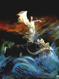 The Sea Witch by Frank Frazetta