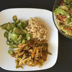 """""""Éste fue mi almuerzo, super completo, saludable y cargado de sabor, una de mis grandes metas es demostrar que comer sano no tiene que ser aburrido ni…"""""""