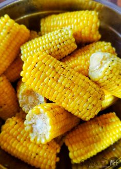 Side Dishes Easy, Side Dish Recipes, Easy Recipes, Best Corn On The Cob Recipe, Corn In The Microwave, All Vegetables, Veggies, Boiled Corn, Buttered Corn