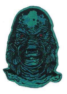 The Creature Iron-On PATCH Horror Classic Universal Studios Monster Monsters From The Black Lagoon Hipster Goth Gothic Punk Science Fiction