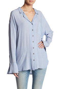 Free People - Magic Breeze Striped Button Down Shirt