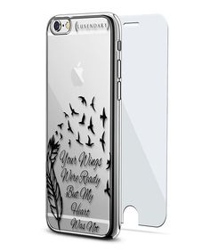 Look what I found on #zulily! Clear & Black 'Your Wings Were Ready' iPhone Case #zulilyfinds