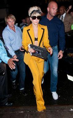 Lady Gaga in yellow