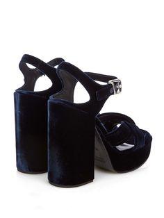 Velvet platform sandals | Jil Sander | MATCHESFASHION.COM AU