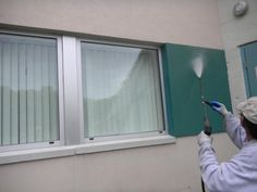 Exterior painting job for commercial businesses or residential homes involves important aesthetic parts of the structure. Exterior Paint, Windows, This Or That Questions, Painting, Painting Art, Paintings, Draw, Window