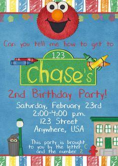 Sesame Street INSPIRED Birthday Party by DecidedlyDigital on Etsy, $15.00