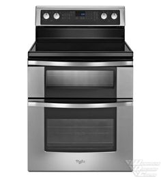 Whirlpool 6.7 Total cu. ft. Double Oven Electric Range with AccuBake(R) system WGE555S0BS