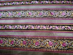 Stoff Blumen - 50 x 90 CM Herrliche Brokat Stoff gewebt feine - ein Designerstück von hibou_2 bei DaWanda