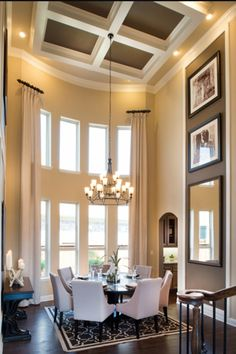 Two story dining room