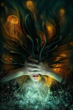 Syllia's Nightmare 2D Art by Diane Özdamar, France. Tools: Photoshop