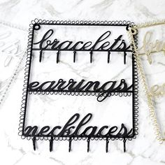 If you're always losing track of your earrings and necklaces, then this is exactly what you need! Ear Jewelry, Jewelry Holder, Jewellery, Finding Yourself, Shoulder Bag, Bracelets, Earrings, Stuff To Buy, Black