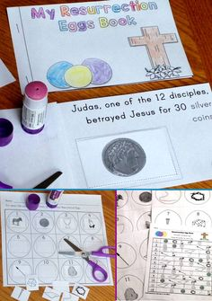 Activities that reinforce and review the Easter story as told with Resurrection Eggs that can be purchased or made separately. Activities include an around the room Resurrection Egg hunt, a printable student-made book, and a cut and paste activity. https://www.teacherspayteachers.com/Product/Resurrection-Eggs-Christian-Easter-Activities-1761701