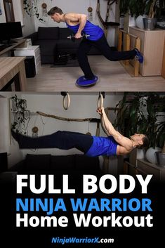 Not everybody has access to a Ninja Warrior gym. I will show you how you can train for Ninja Warrior at home and what you can do to compensate best for not having access to Ninja Warrior obstacles. Beginner Workout At Home, Workout Routines For Beginners, Home Exercise Routines, At Home Workouts, Workout Ideas, Fitness Workouts, Ninja Warrior Gym, Warrior Workout, American Ninja Warrior