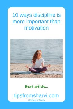 #ad 10 ways discipline is more important than motivation (Full disclosure on my blog) #discipline #motivational Polaroid Film, Reading, Canvas, Motivational, Success, Blog, Tela, Reading Books, Canvases