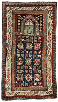Karabagh Prayer Rug, South Caucasus, last quarter 19th century, (small areas of wear), 5 ft. x 2 ft. 9 in.