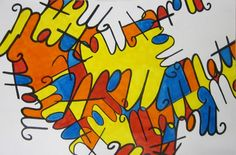 Cursive Name Project/ Middle School Sub Lesson - a great one day project in the art room! #art