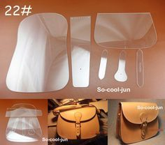 6pcs Leather Craft Acrylic Saddle Package Pattern Stencil Template Tool Set NEW