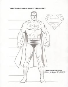 How Curt Swan draws Superman. Love the classic S emblem — the edges and angles have just a slight curve. Nobody does it better. How Curt Swan draws Superman. Love the classic S emblem — the edges and angles have just a slight curve. Nobody does it better. Comic Book Artists, Comic Artist, Comic Books Art, Top Superheroes, Drawing Superheroes, Character Model Sheet, Comic Character, Swan Drawing, Superman Comic