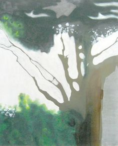 ORIGINAL OIL PAINTING  Abstract Tree Forest Mist by Brennecki, $250.00