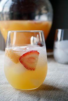 Sangria with sake, Grand Marnier, and fresh orange juice.