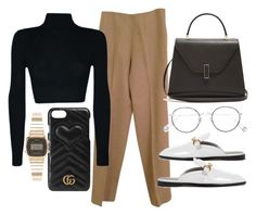 """""""Untitled #21950"""" by florencia95 ❤ liked on Polyvore featuring Hermès, Valextra, STELLA McCARTNEY, Ahlem, Gucci and Casio"""