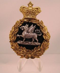 28/LXI Militaria UK – Cap / Headdress Badge – The Monmouthshire Regiment Officers Exceptionally Nice Quality Victorian Glengarry. c.1881 - 1902..