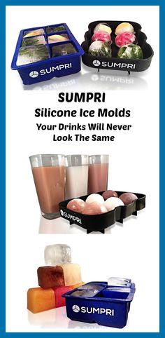 Make your own large Ice Cubes & Ice Spheres with SUMPRI Silicone Ice Molds. Press this link to get your set now: amzn.to/1QT5AQX  Use this link and get a set of #Sumpri #sphere #ice #ball #mold #cube #tray set