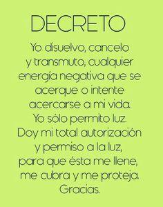 Yo decreto
