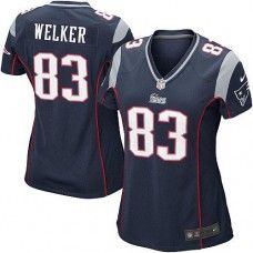 Women s Blue NIKE Game New England Patriots  83 Wes Welker Team Color NFL  Jersey New f1c7537ac