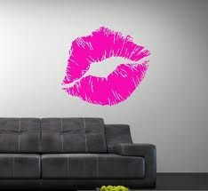lip wall decals