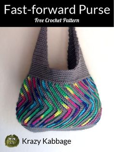 How to Crochet the Fast-forward Chevron Purse – Krazy Kabbage