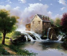 The Blessings Of Summer by Thomas Kinkade  June 1995