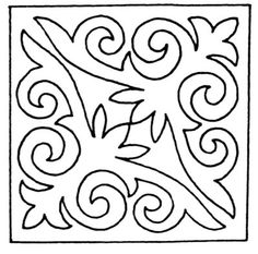 Day 8 is fly stitch. Stencil Patterns, Stencil Designs, Applique Designs, Embroidery Patterns, Quilt Patterns, Quilting Templates, Quilting Designs, Leather Embroidery, Mosaic Pots