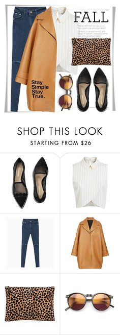 """Perfect Pair - Fall Loafers"" by stylemeup007 ❤ liked on Polyvore featuring Nicholas Kirkwood, Miss Selfridge, Rochas, Clare V. and Wildfox"