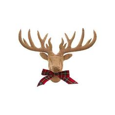 Burlap And Tartan Stag's Head