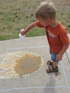 Sidewalk fire game for the kiddos