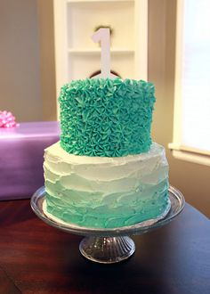 Love the color.may be making this for an upcoming birthday! 1st Birthday Foods, 1st Birthday Cakes, 1st Birthday Girls, 1st Birthday Parties, Birthday Celebration, Birthday Ideas, Birthday Stuff, Fancy Cakes, Pretty Cakes