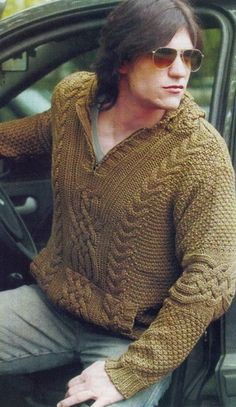 Схема мужского пуловера