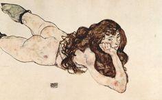 에곤 실레 - 누워 있는 여성 누드