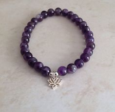 Spiritual Growth  Amethyst and Lotus Flower by InnerFireJewelry, $18.00