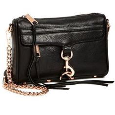 Rebecca Minkoff black mini Mac gold hardware Rebecca Minkoff black mini Mac with gold hardware. Worn, but has tons of mileage left. See photos for condition. Comes with dust bag. Get this for a steal! No trades, no pp, no exceptions! Rebecca Minkoff Bags Crossbody Bags