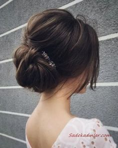 What's the Difference Between a Bun and a Chignon? - How to Do a Chignon Bun – Easy Chignon Hair Tutorial - The Trending Hairstyle Wedding Hairstyles For Women, Bride Hairstyles, Hairstyle Ideas, Bridesmaid Hairstyles, Hair Ideas, Princess Hairstyles, Hairstyles 2018, Low Bun Hairstyles, Elegant Hairstyles