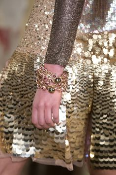 #JustCavalli FW 2012-13 Runway Show. #details #gold #sequins #fashion