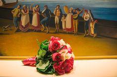 wedding bouquet for a wedding in Sorrento