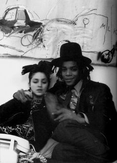 Jean-Michel BASQUIAT + Madge. New York circa 1982 x