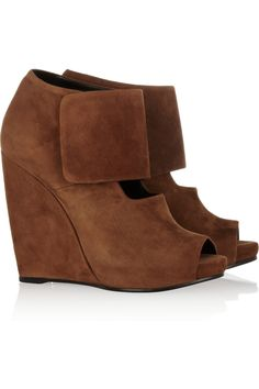 Suede wedge boots  by Pierre Hardy