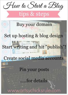 want to start your own blog? Artsy Chicks Rule