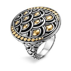John Hardy 'Naga Gold & Silver' Oval Ring found on Polyvore