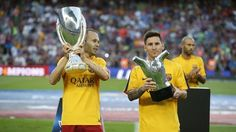 UEFA Supercup & UEFA Best Player #FCBarcelona #UEFASuperCup #CampionsFCB #FansFCB #Messi #Iniesta