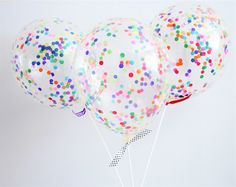 Confetti Balloon Kits - 28cm Confetti Balloons in loads of colours! The perfect Party Decoration for any occasion. by ThisLittleParty on Etsy